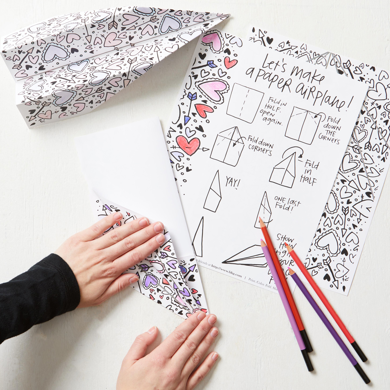 Paper Airplane Coloring Cards