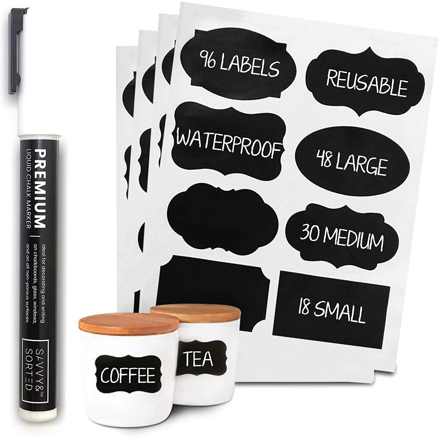Savvy Sortable chalkboard labels