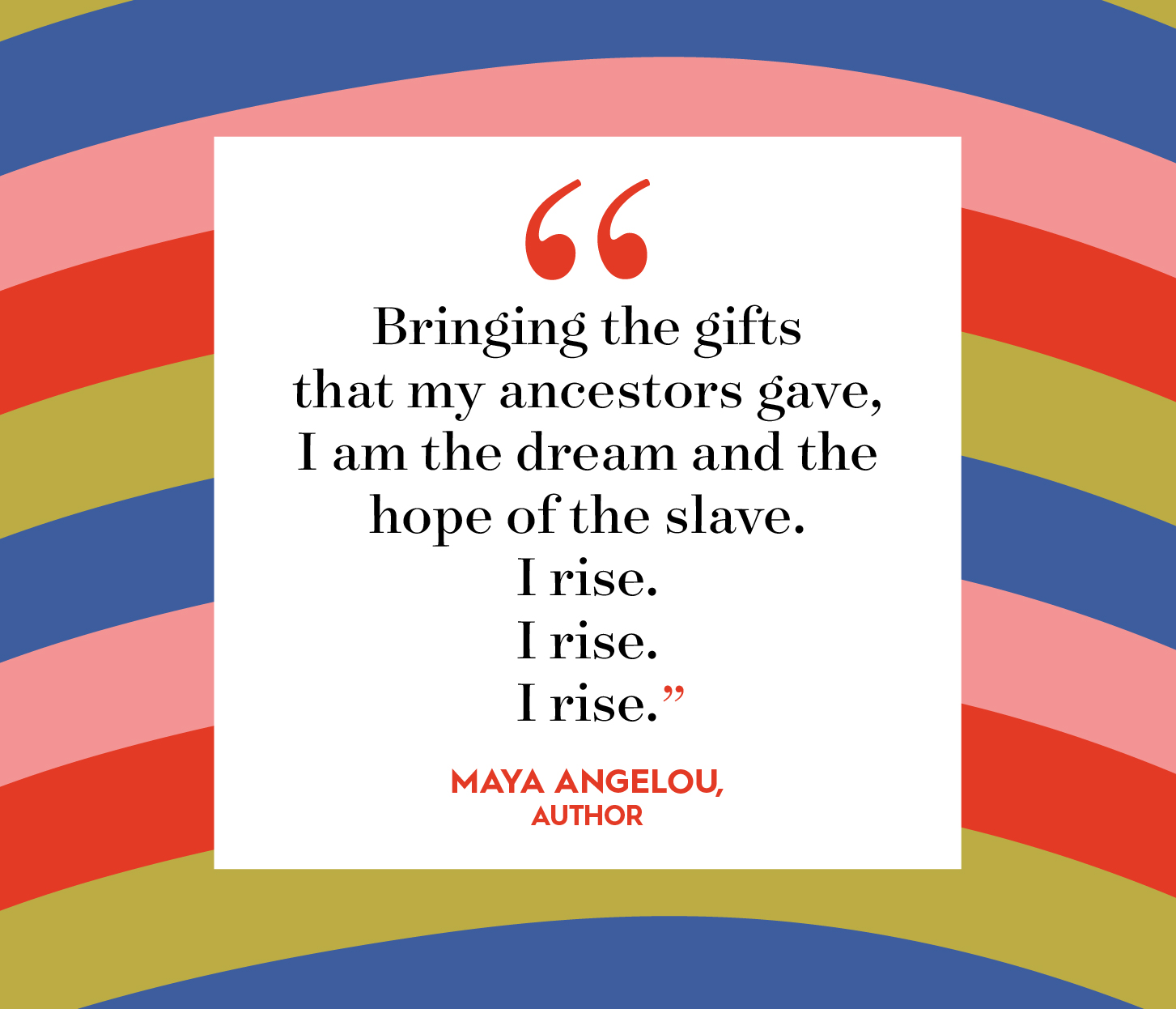 maya angelou quote on multicolor background