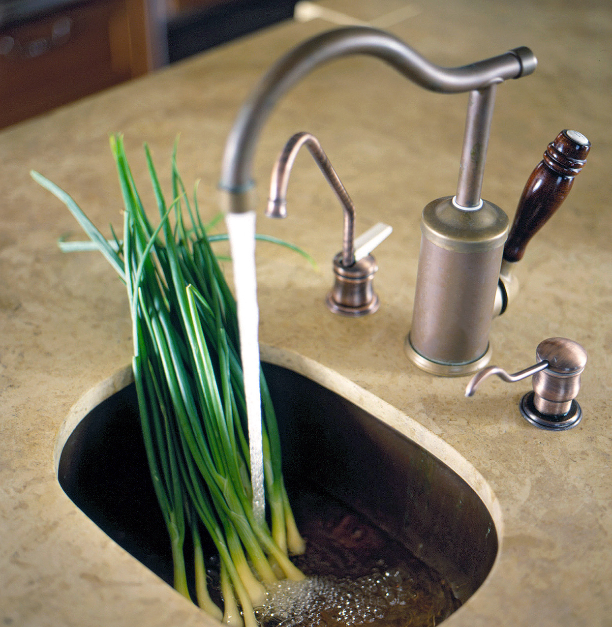 detail small bar sink kitchen traditional style faucet