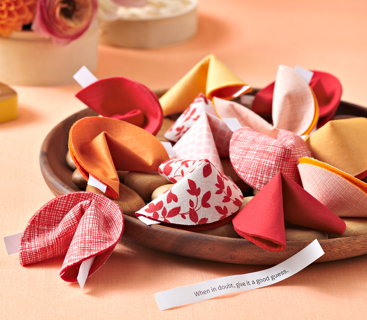 cloth forunate cookies note