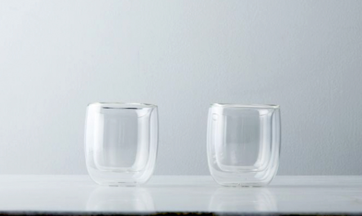 Two Sorrento double walled glasses