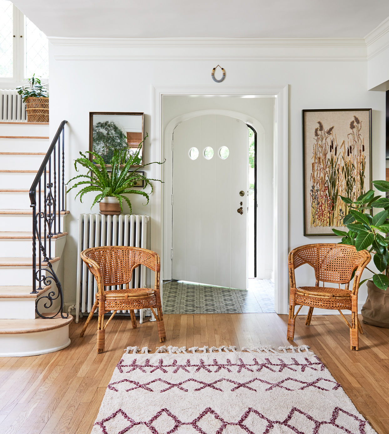 entryway with greenery