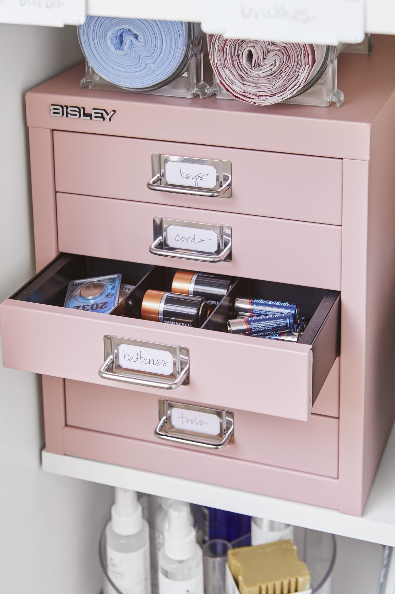 dividers drawer pink supplies