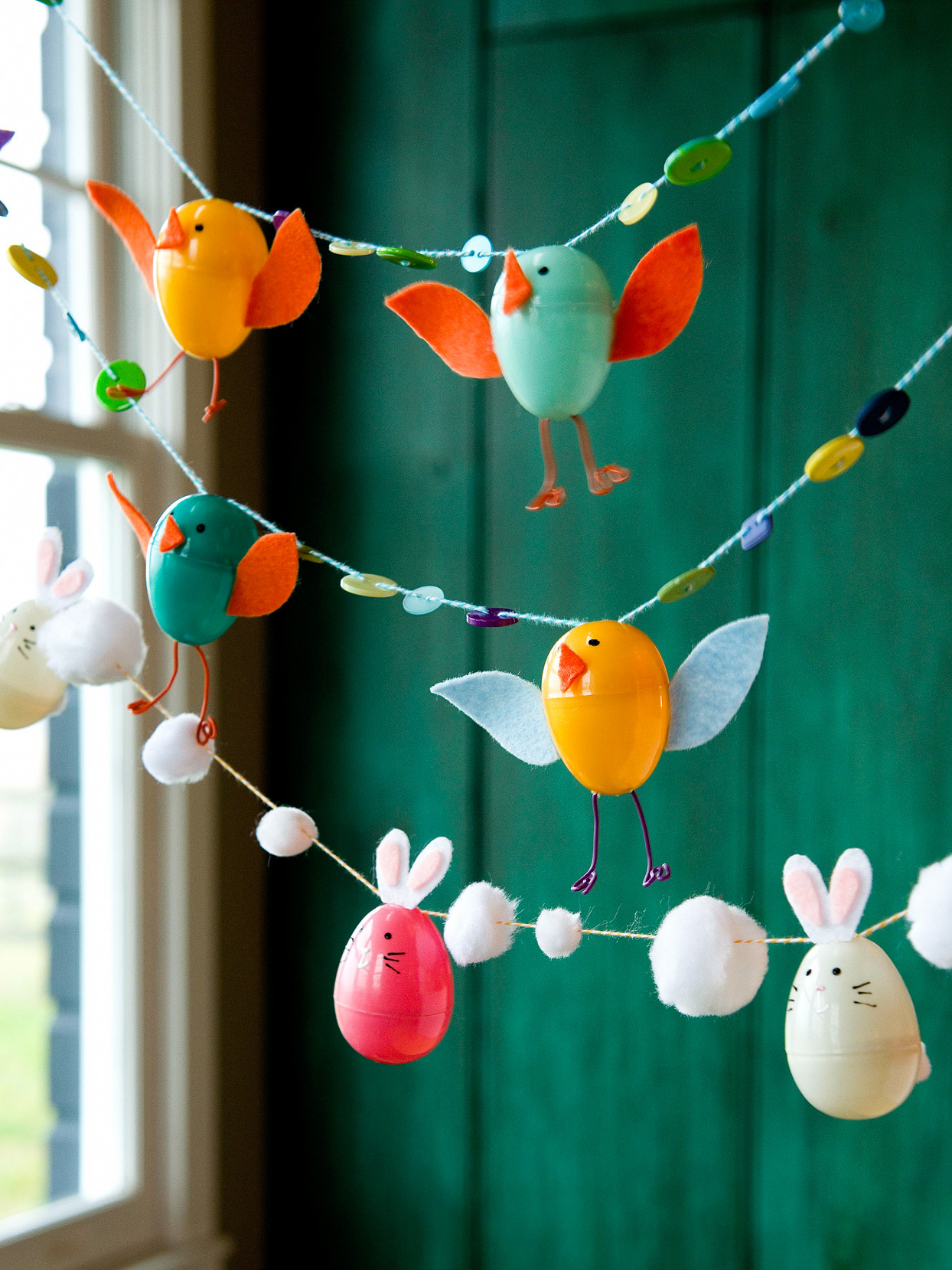 easter chick and bunny garland