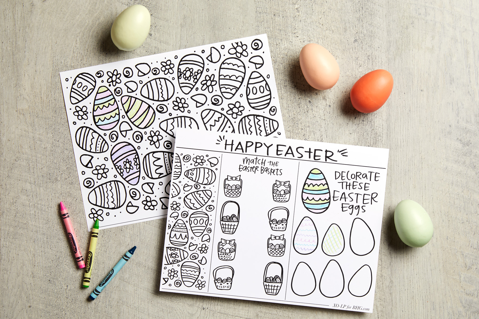 easter egg printable coloring book pages