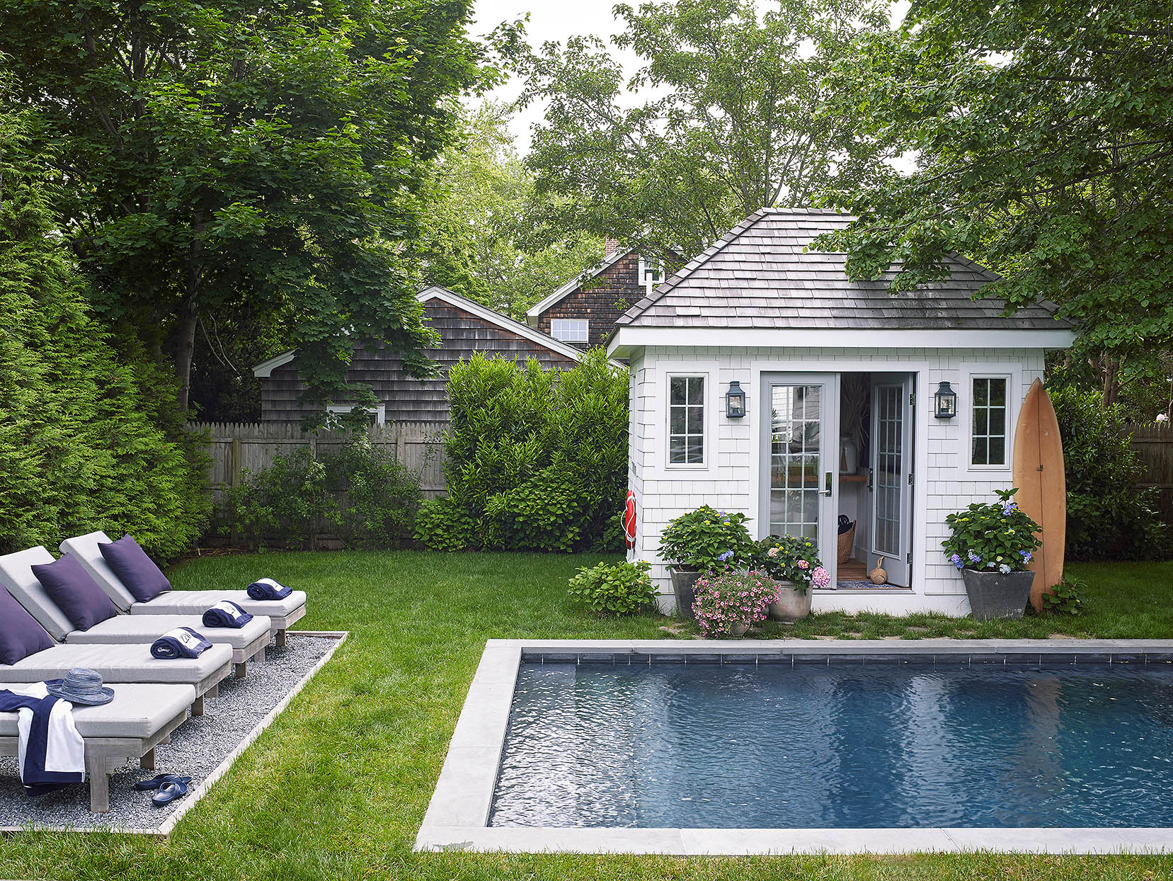 backyard pool and clubhouse