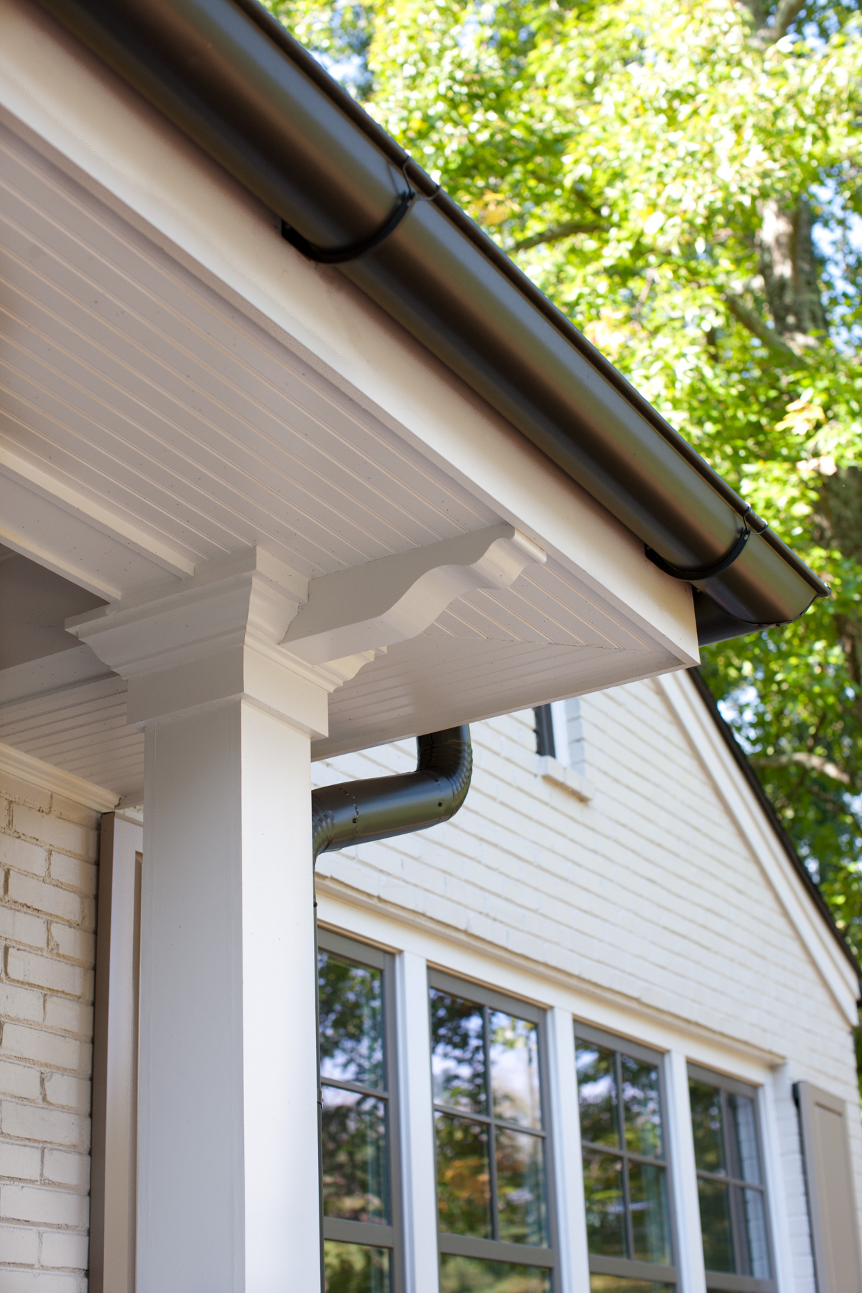 outdoor gutters white home