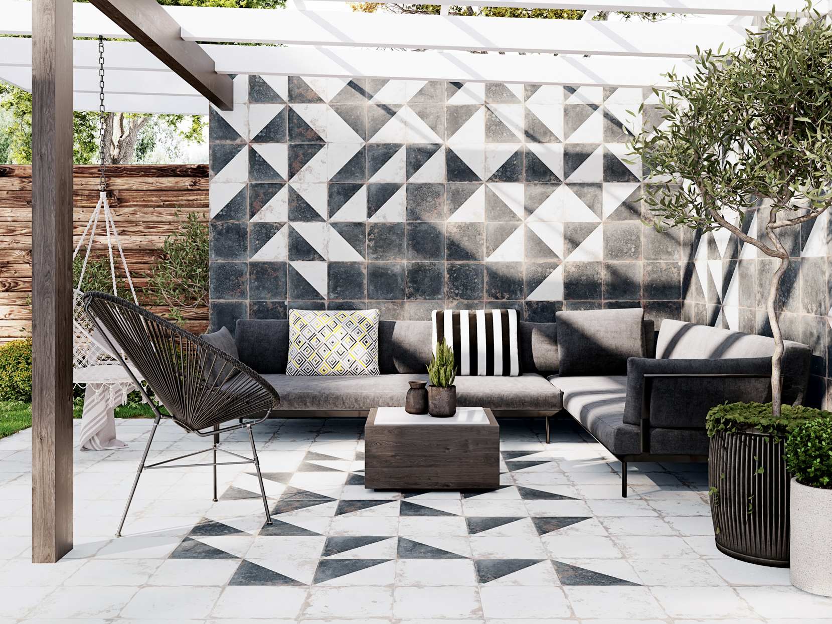 tile pergola outdoor furniture