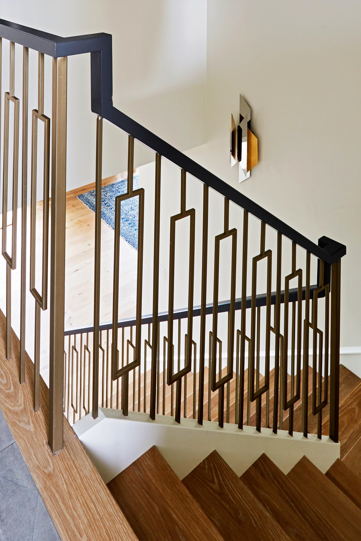 retro 70s-style staircase geometric forms