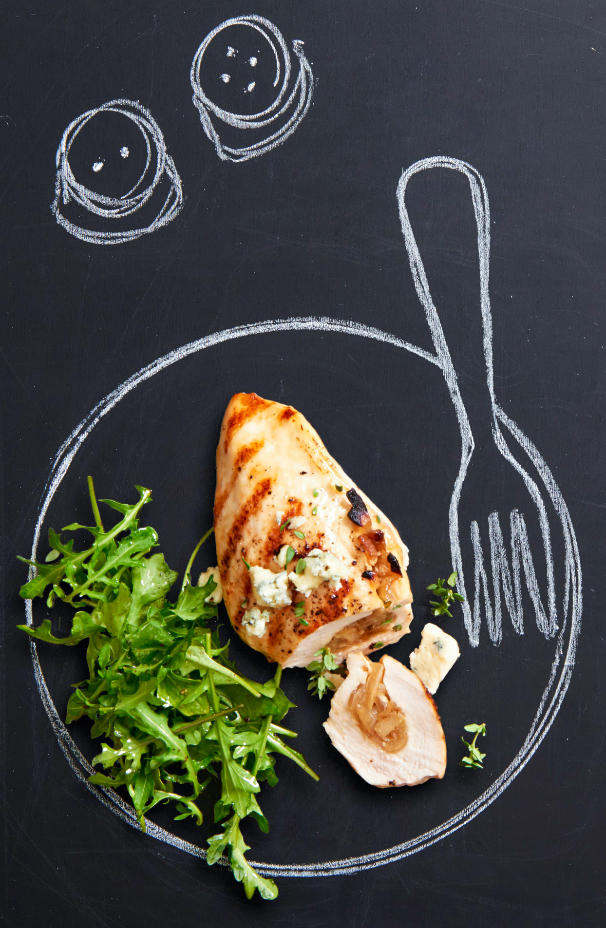 Caramelized Onion and Apple-Stuffed Chicken Breasts