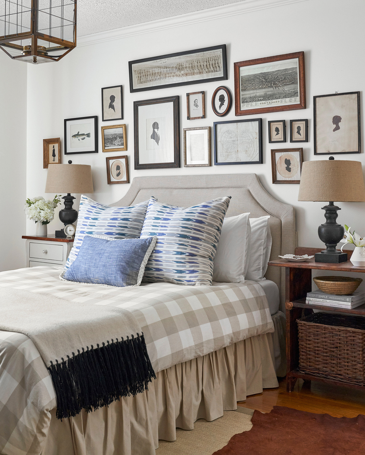 master farmhouse bedroom gallery wall silhouettes