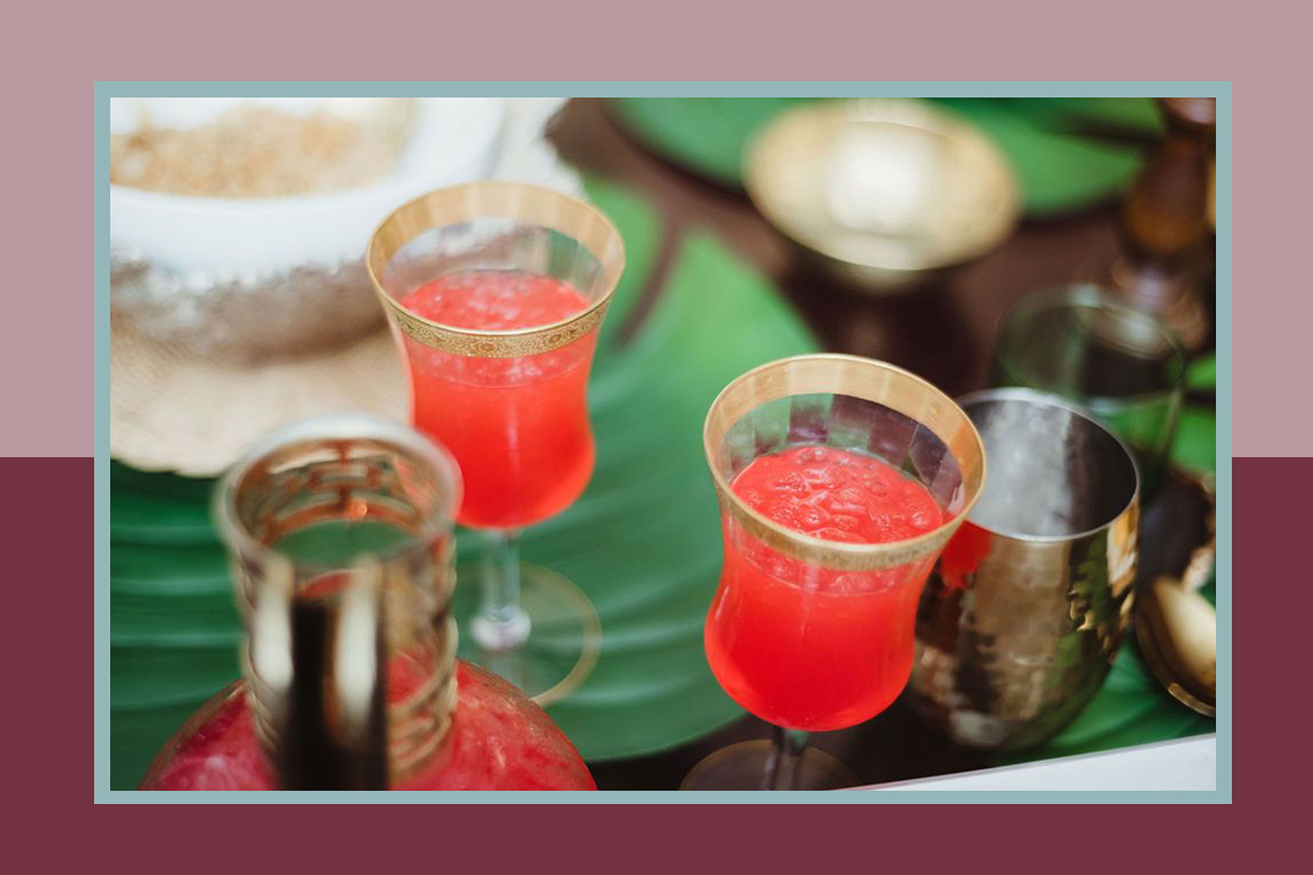 Traditional Juneteenth red drink on table setting