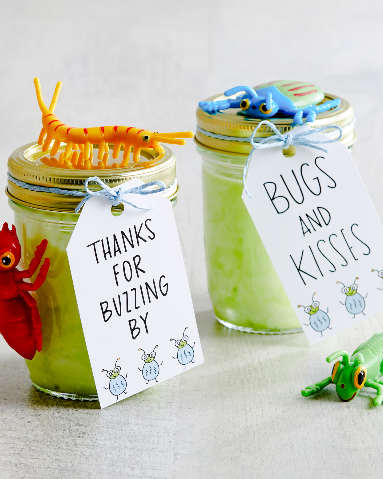 bug-themed party favor tags