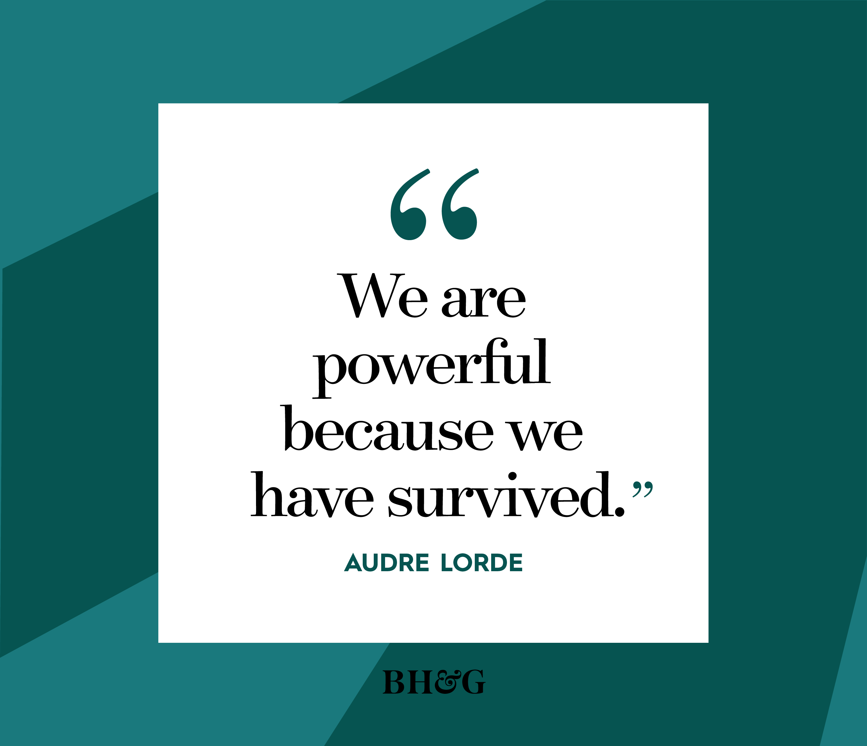 audre lorde quote on green background