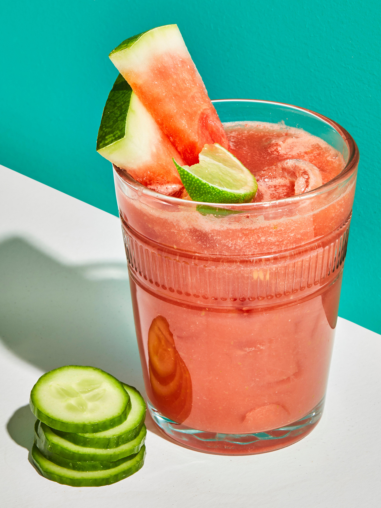 Watermelon-Cucumber-Lime Refresher
