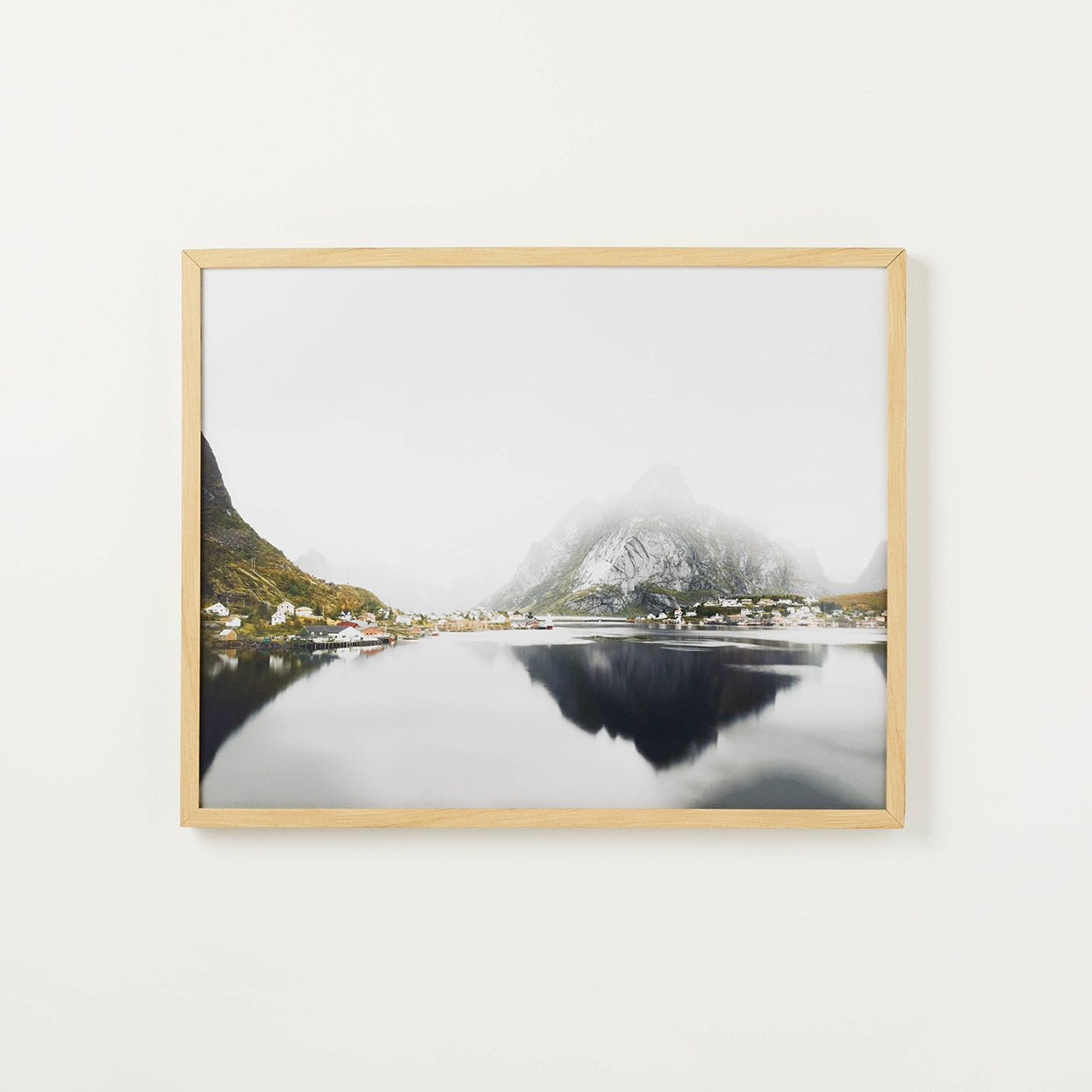 framed wall art with landscape photo