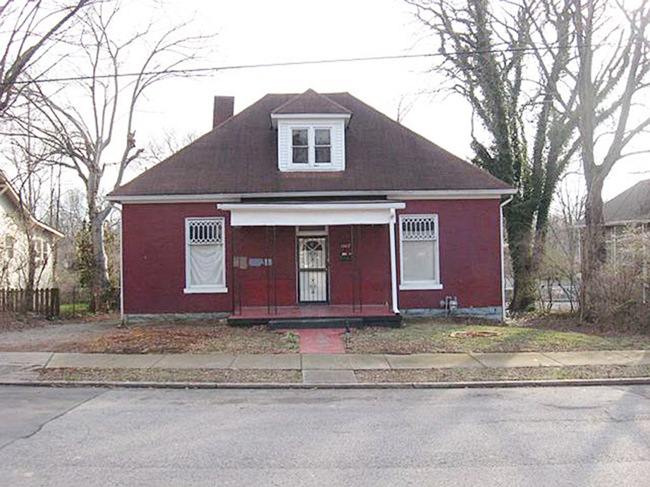 Red house white trim