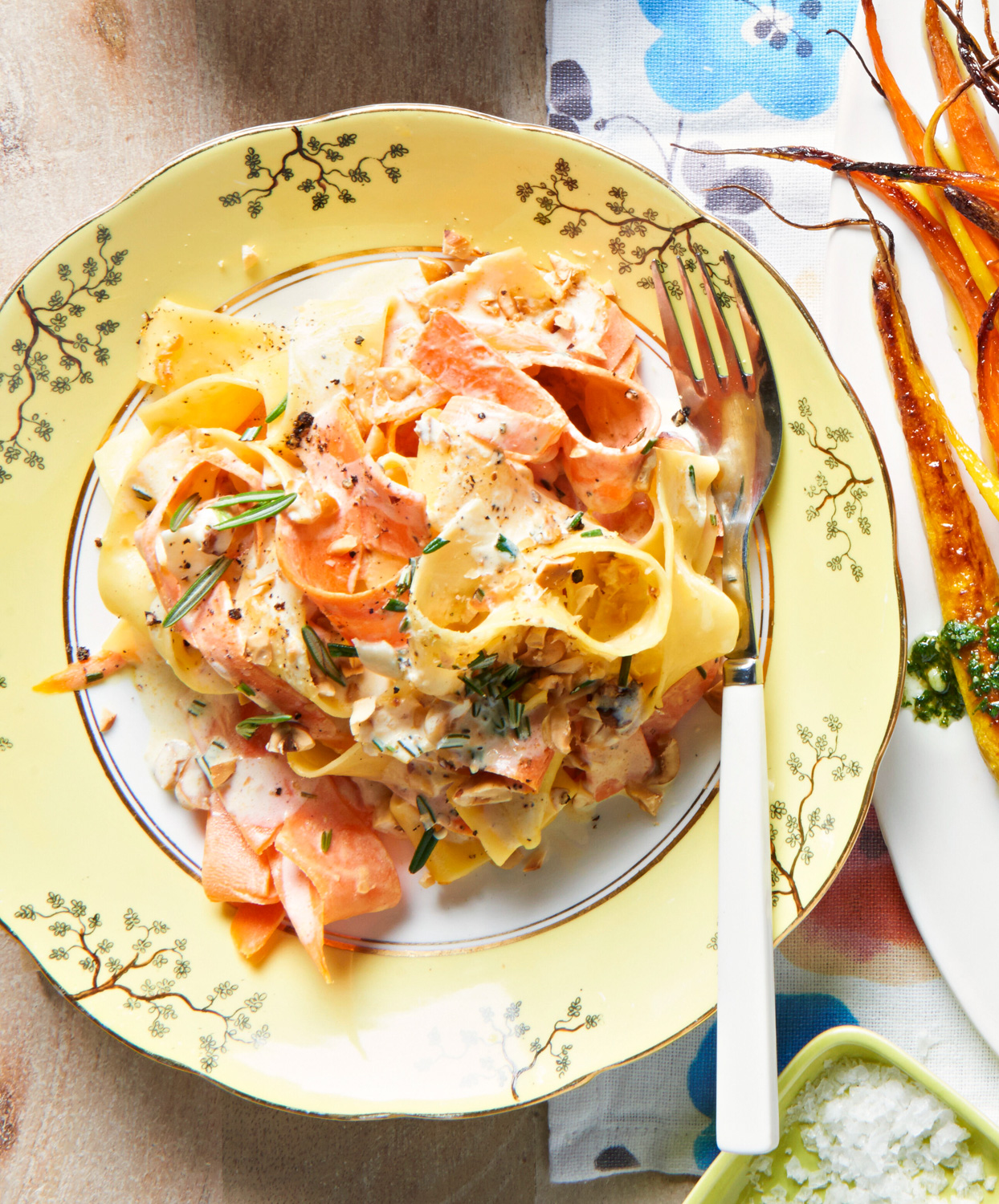Rosemary and Carrot Ribbon Pappardelle