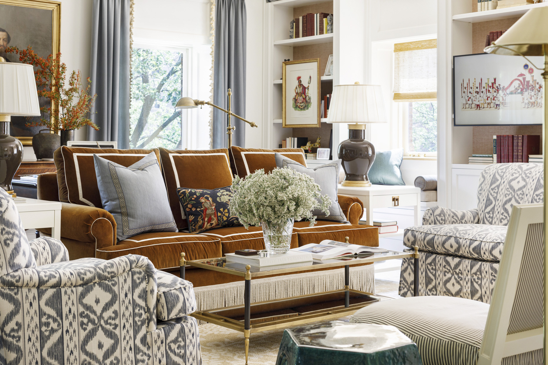 living room couch lamp chair pillow