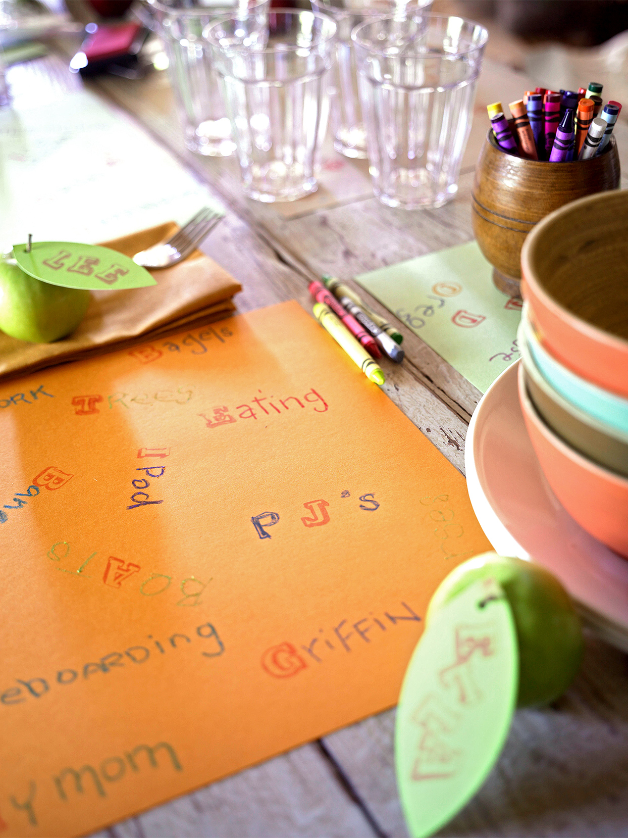 construction paper thanksgiving fall placemat