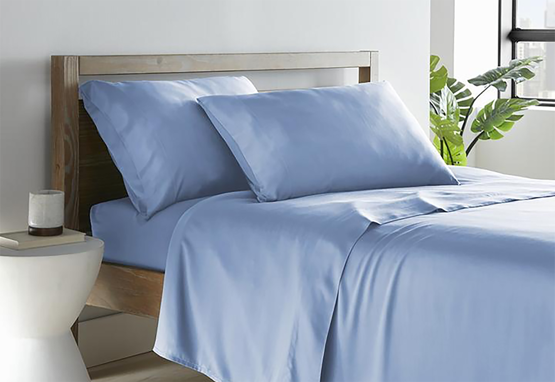 hotel direct bamboo sheets in blue