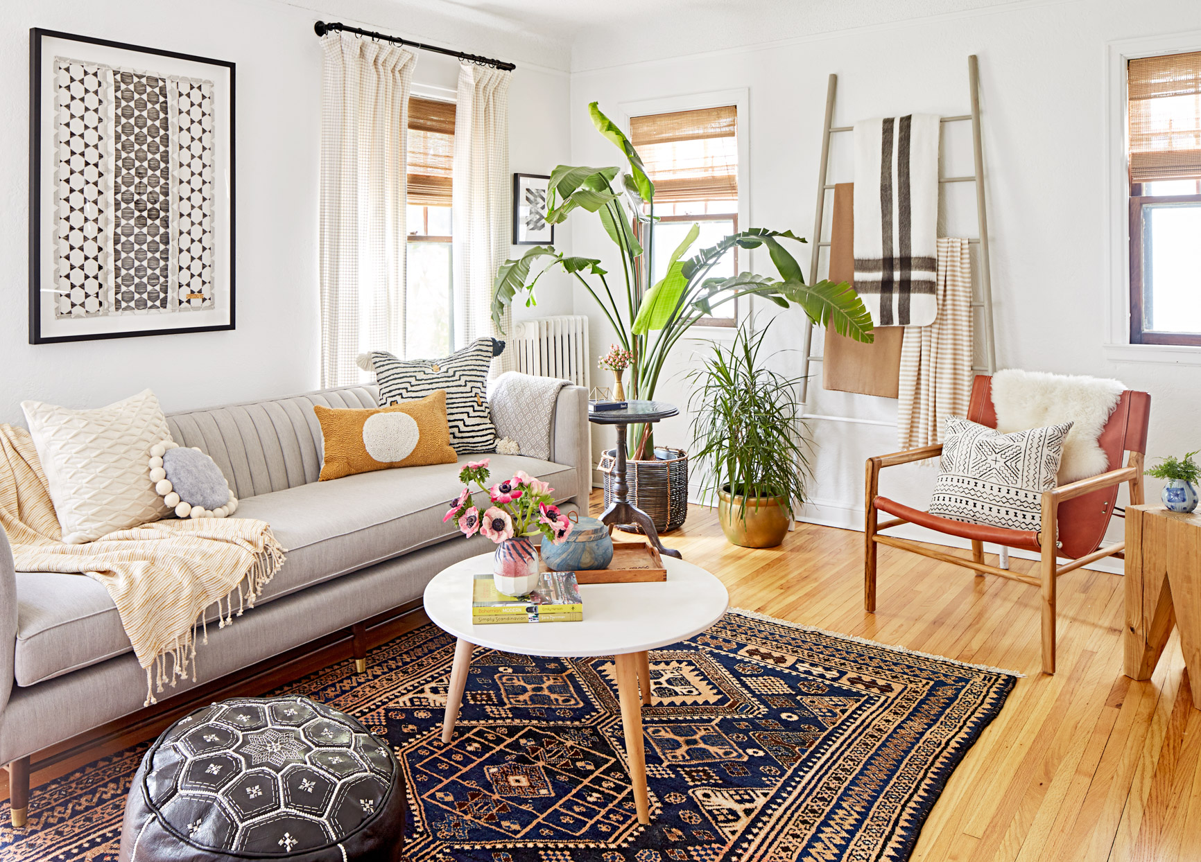 living area mix and match home decor
