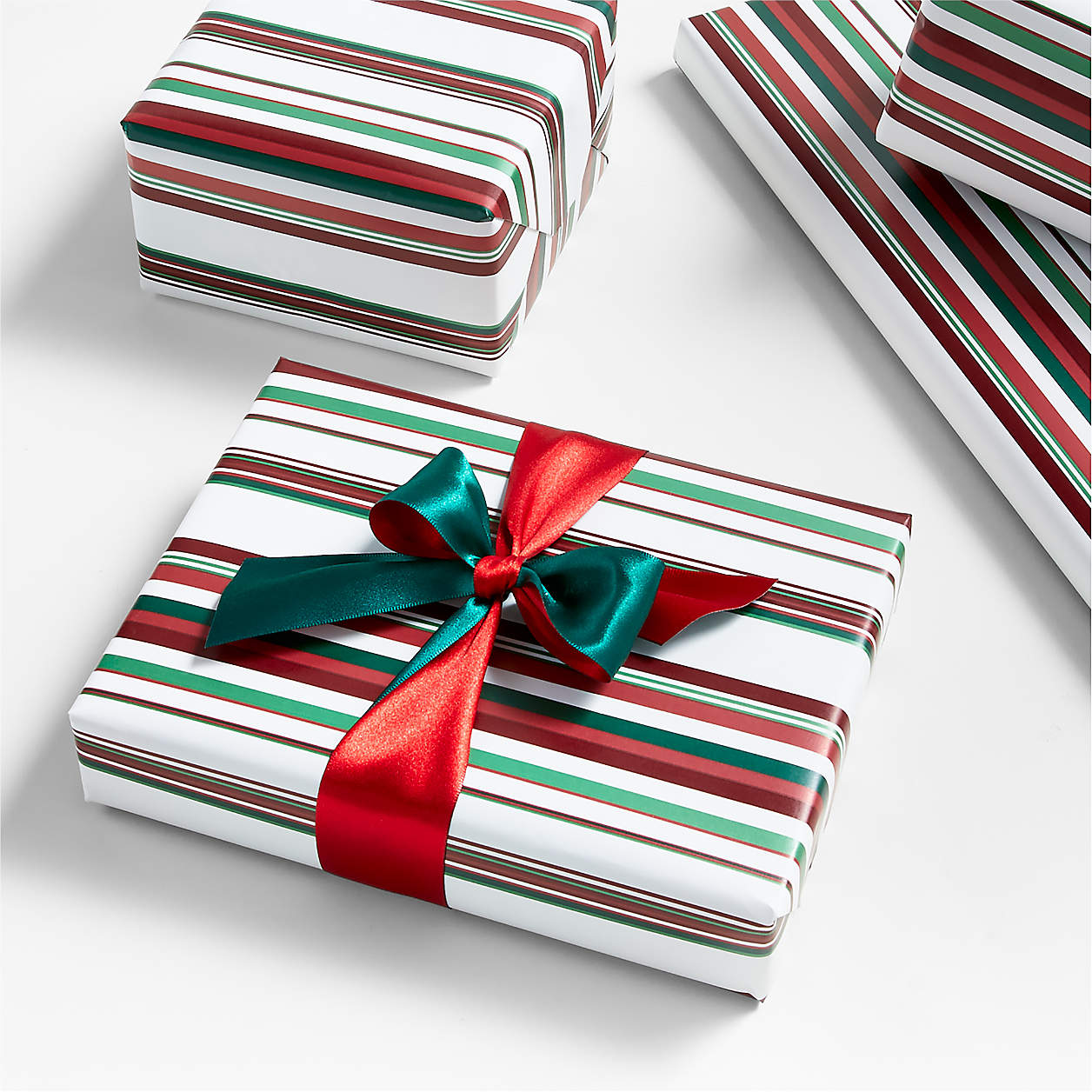 candy striped gift wrap