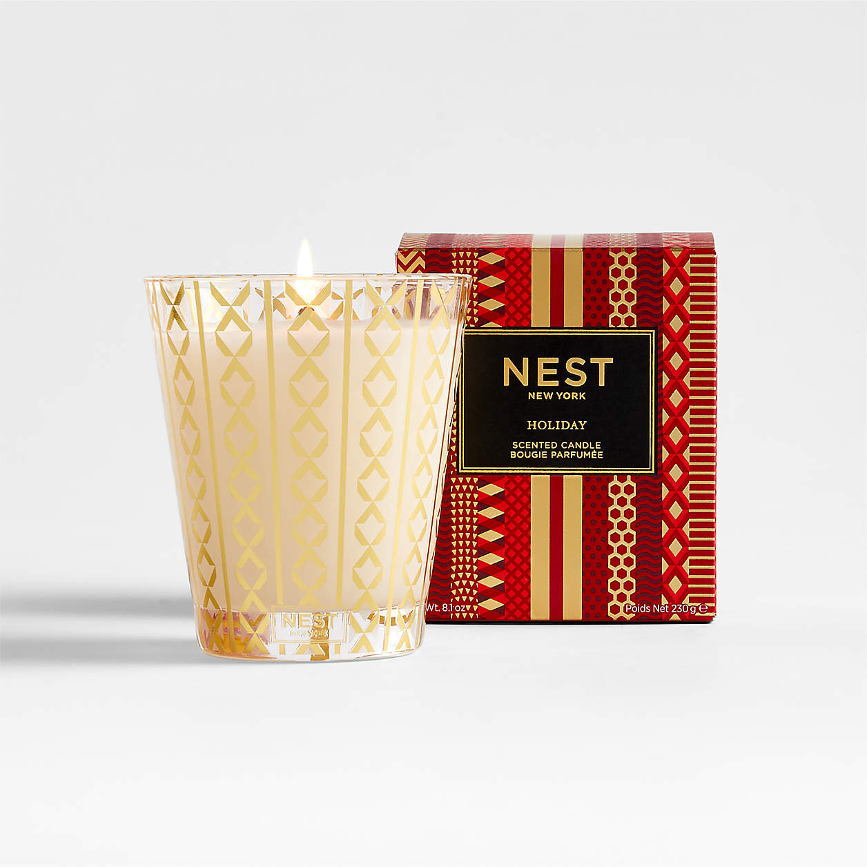 nest scented holiday candle