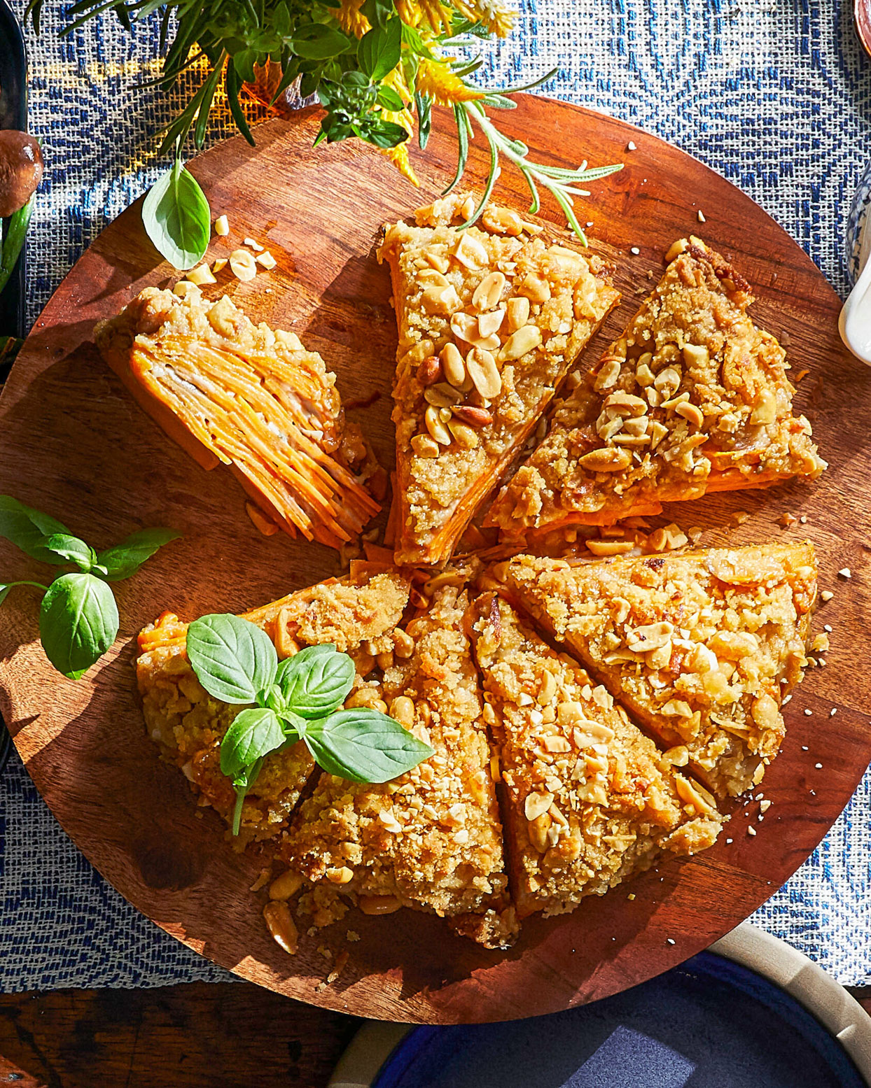 Scalloped Sweet Potatoes with Peanut Streusel