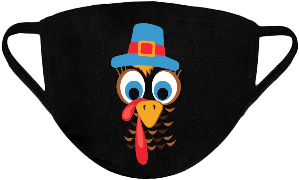 black face mask with turkey on it