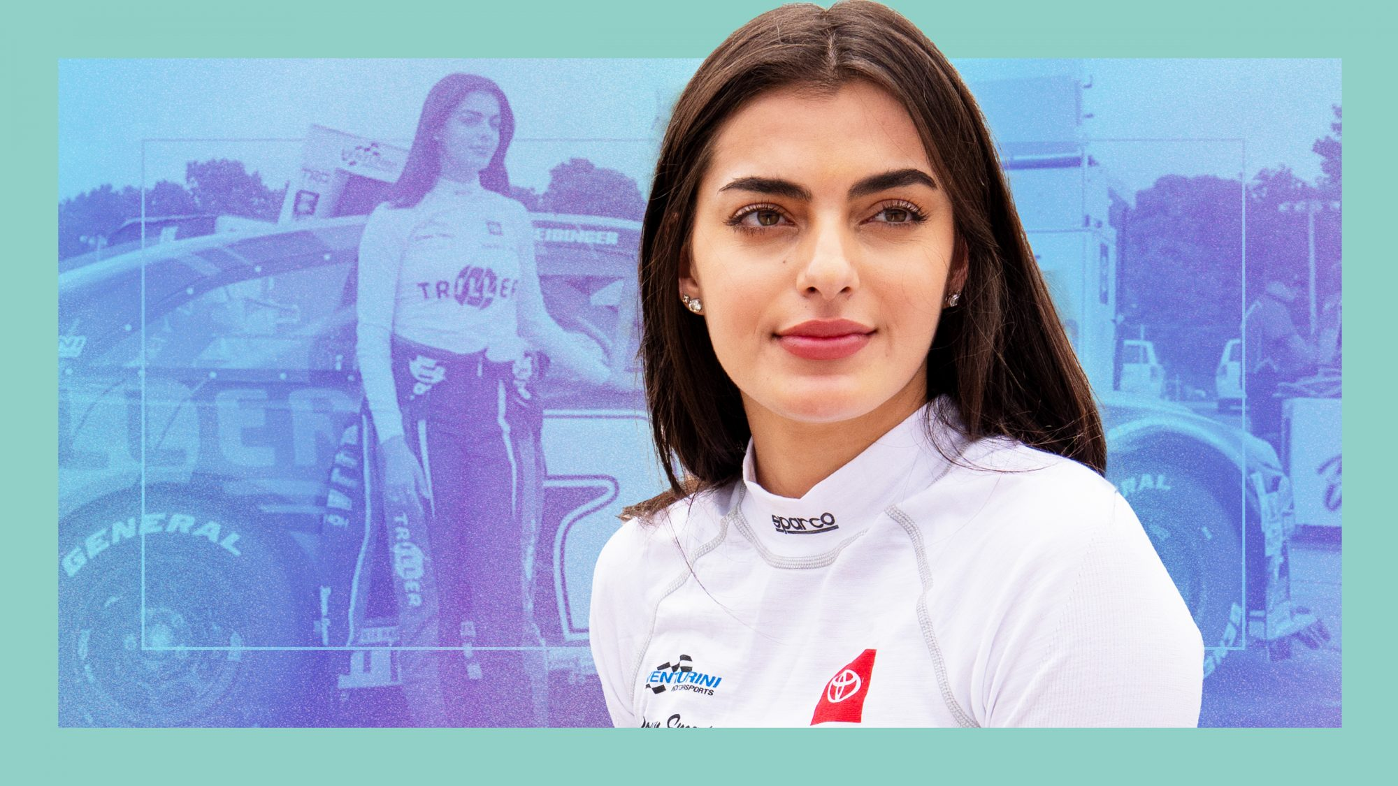 NASCAR's First Arab-American Female Pro is Giving the Sport a Much-Needed Makeover