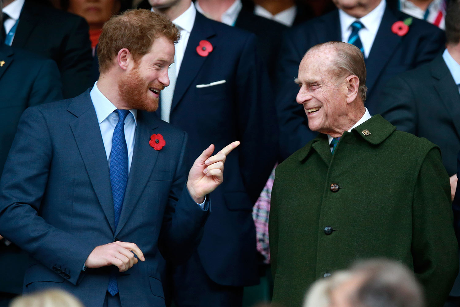 Prince Harry and Prince Phillip