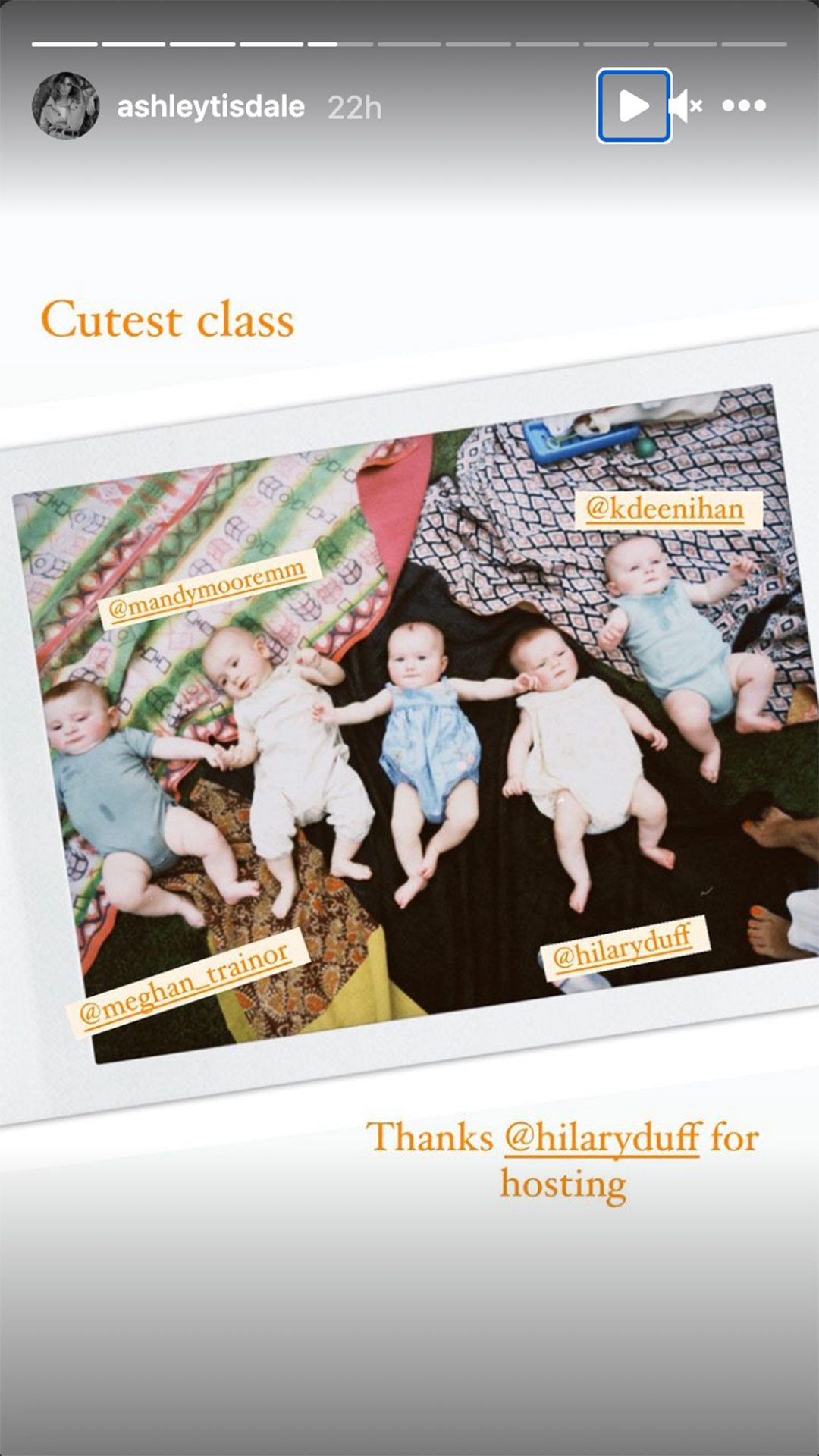 Babies of Mandy Moore, Ashley Tisdale, Meghan Trainor, Hilary Duff join for mommy and me music class
