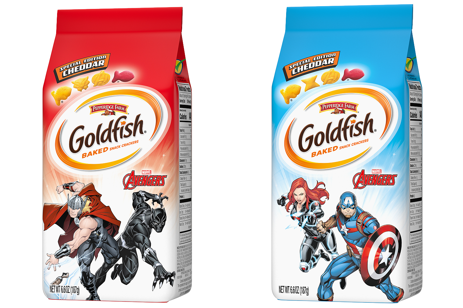 Two Bags of Avengers Goldfish