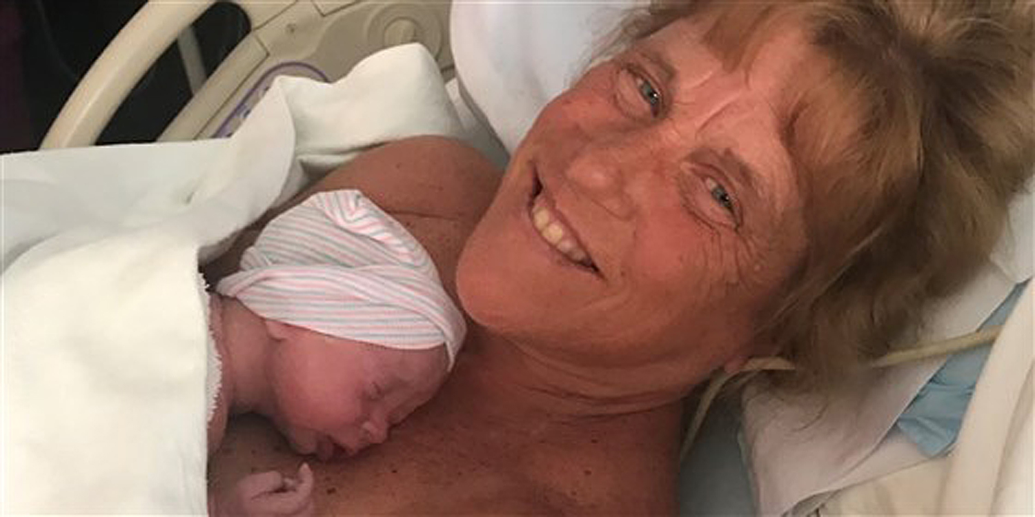 New Hampshire woman Barbara Higgins gives birth at 57