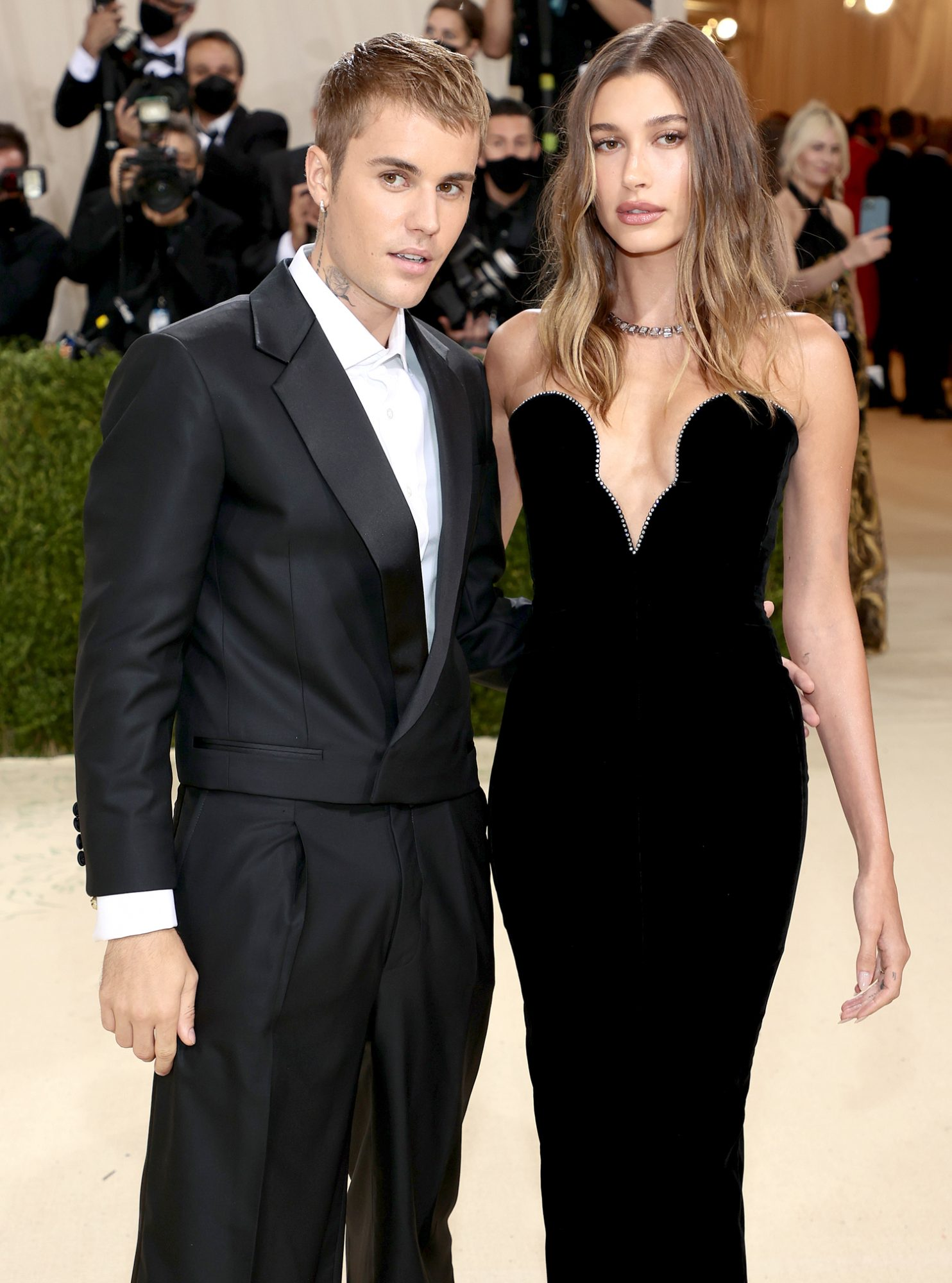 Justin Bieber and Hailey Bieber attend The 2021 Met Gala