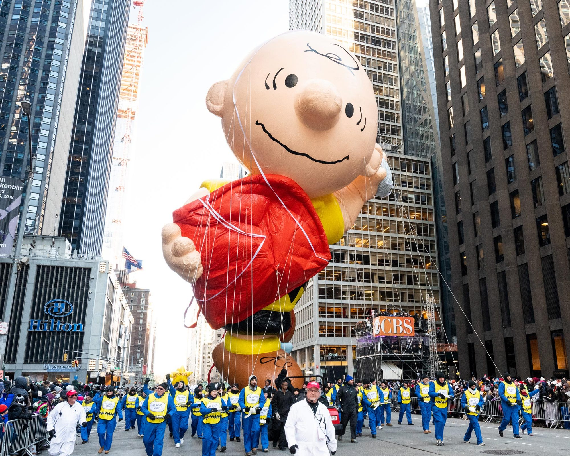 Charlie Brown balloon seen during the 2018 Macy's