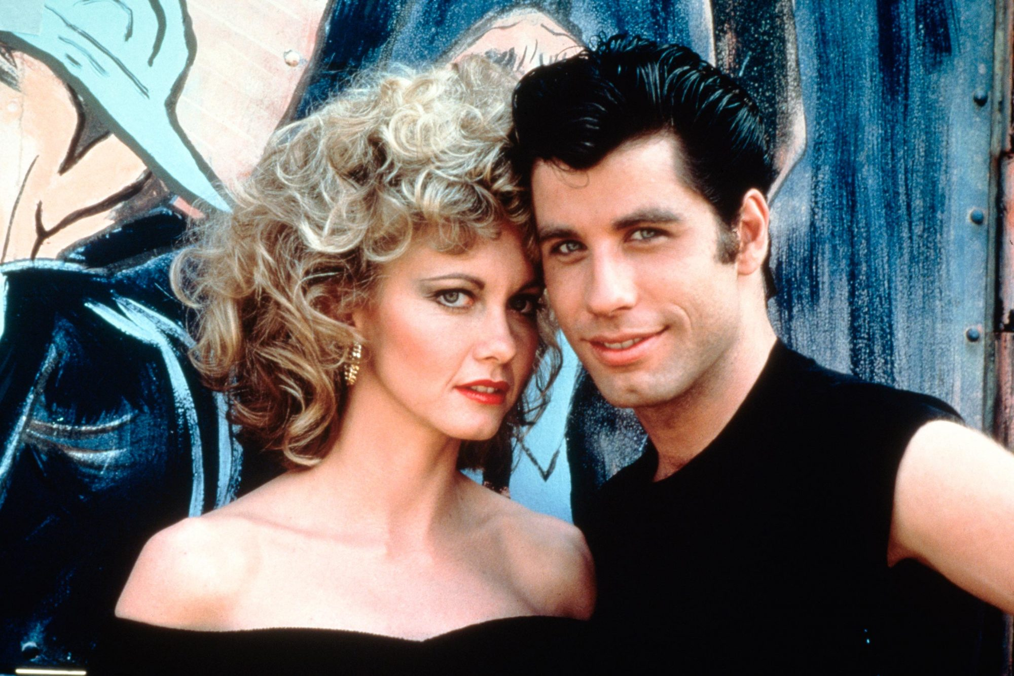 actress Olivia Newton-John and American actor John Travolta in Grease