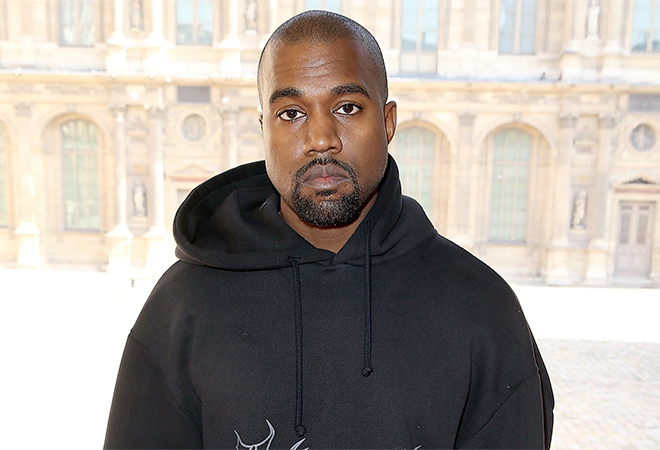 Kanye West Wearing Black Hoodie