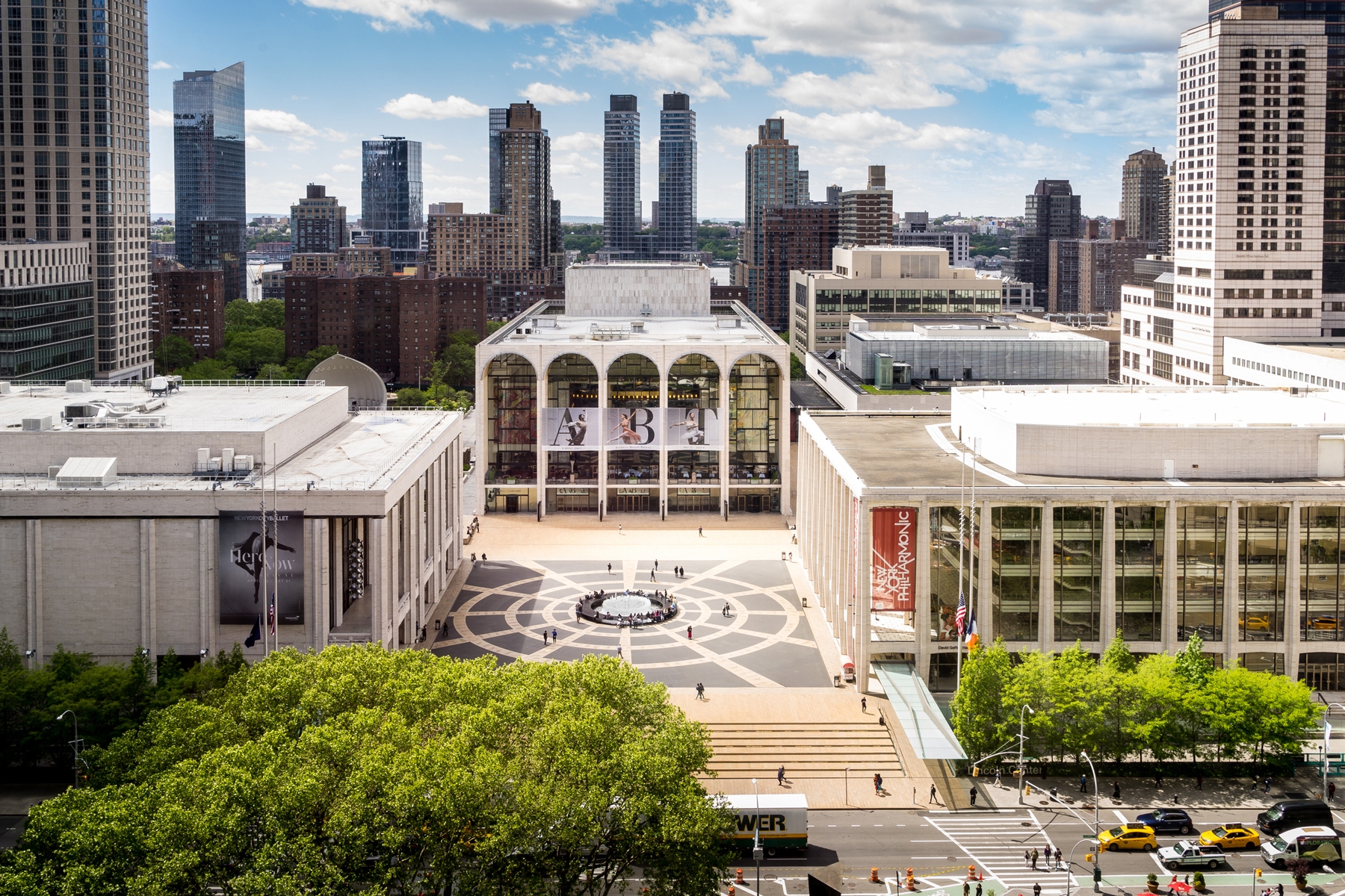 Panorama view of Lincoln Center Opera House