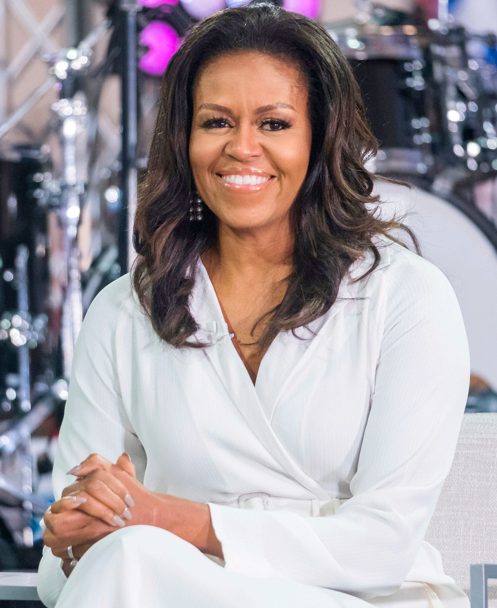 "Michelle Obama participate in the International Day of the Girl on NBC's ""Today"" show at Rockefeller Plaza, in New York International Day of the Girl on NBC's Today Show, New York, USA - 11 Oct 2018"