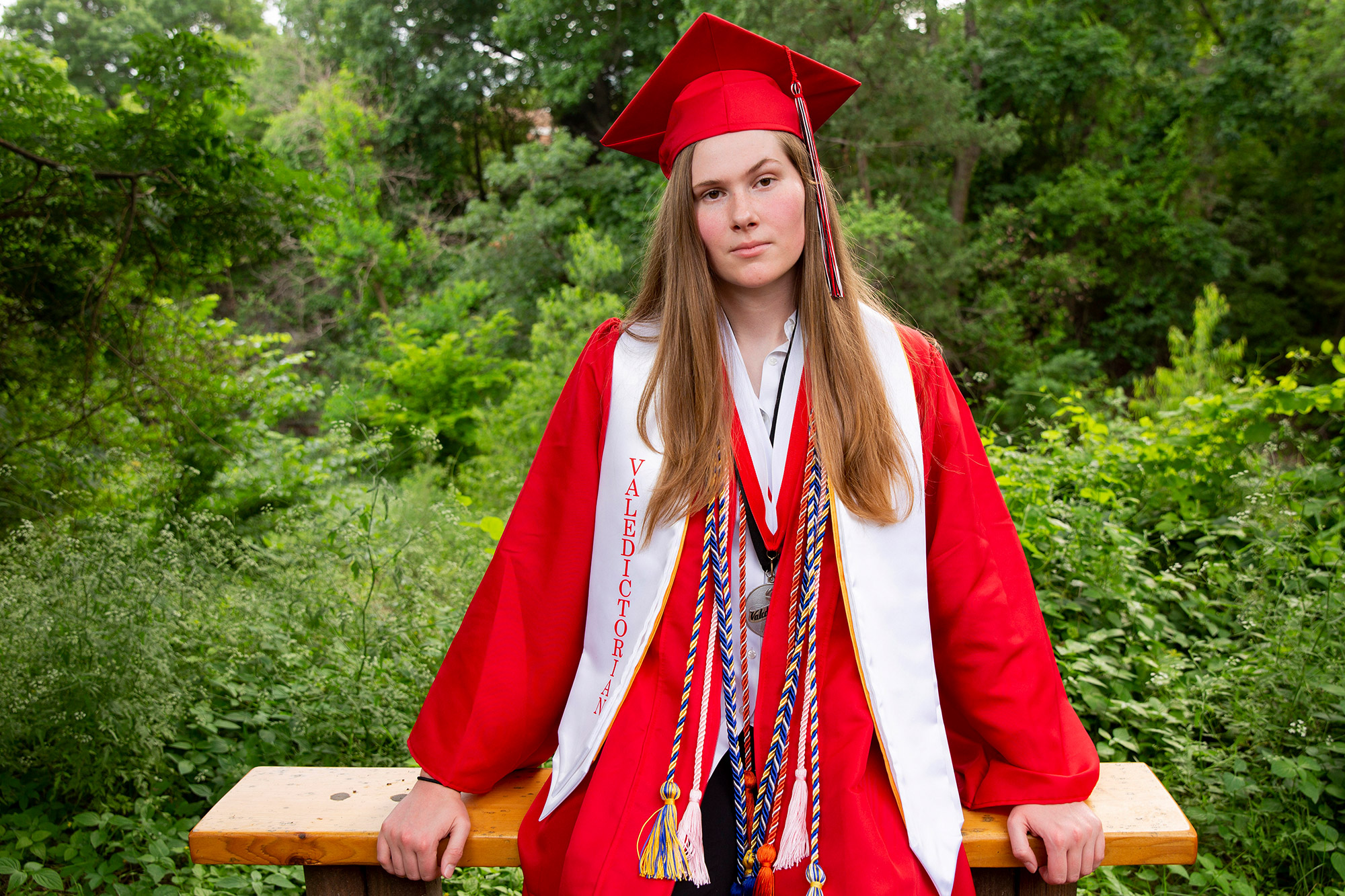 Paxton Smith, Lake Highlands High School valedictorian, poses for a photo, Wednesday, June 2, 2021, in Dallas