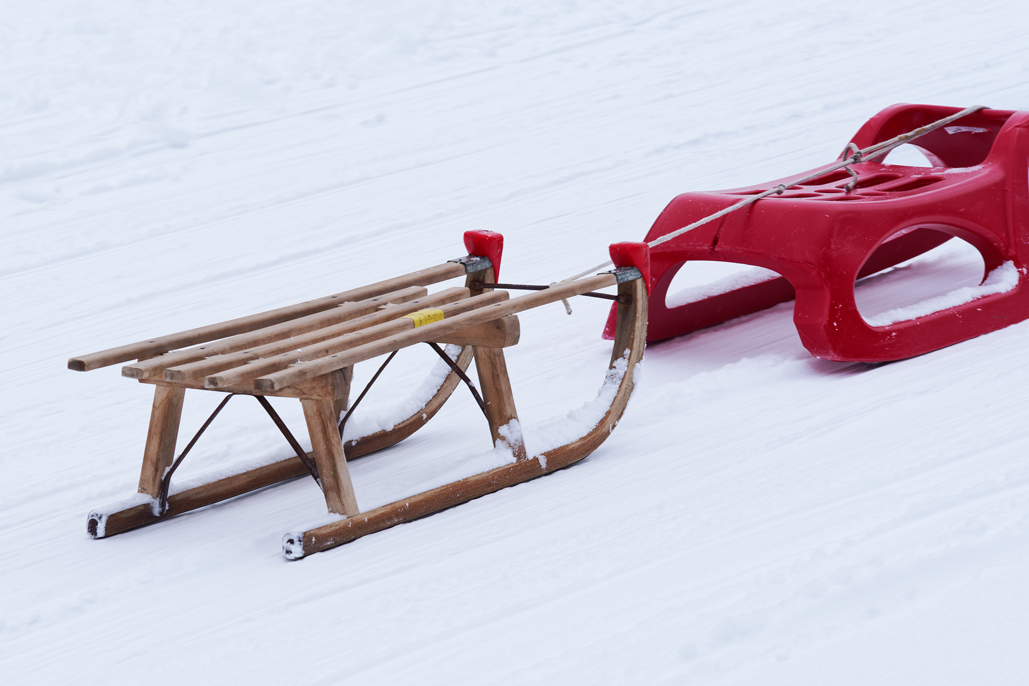 Sleds in winter