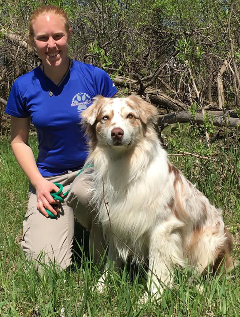 hero dog finds missing teen