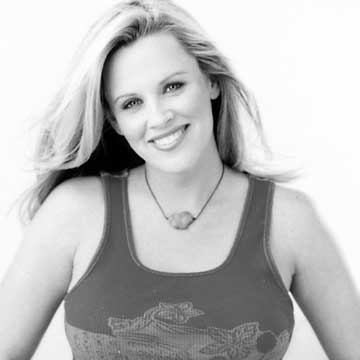 Black and white of Jenny McCarthy