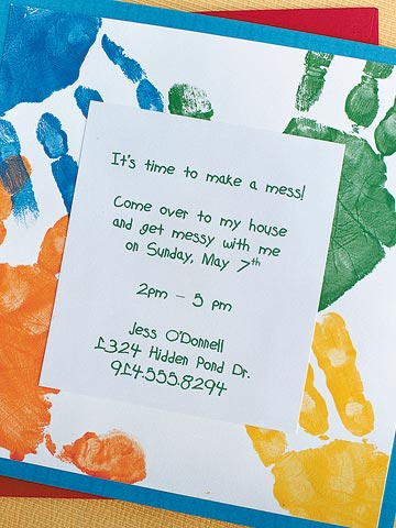 Let's Get Messy Birthday Party Invitation