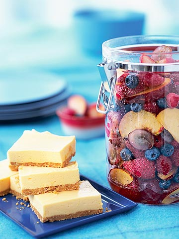 Creamy Orange Bars, Summer Fruit Salad