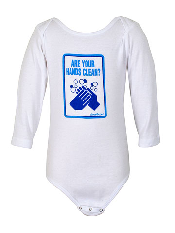 Shop Intuition-Are Your Hands Clean? Long Sleeve onesie