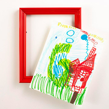 red professional fram for kids artwork